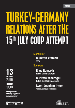 Turkey-German Relations after the 15th July Coup Attempt