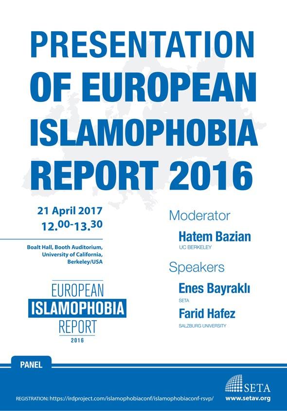 Presentation of European Islamophobia Report 2016