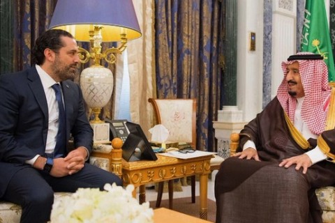 Saad Hariri and King Salman