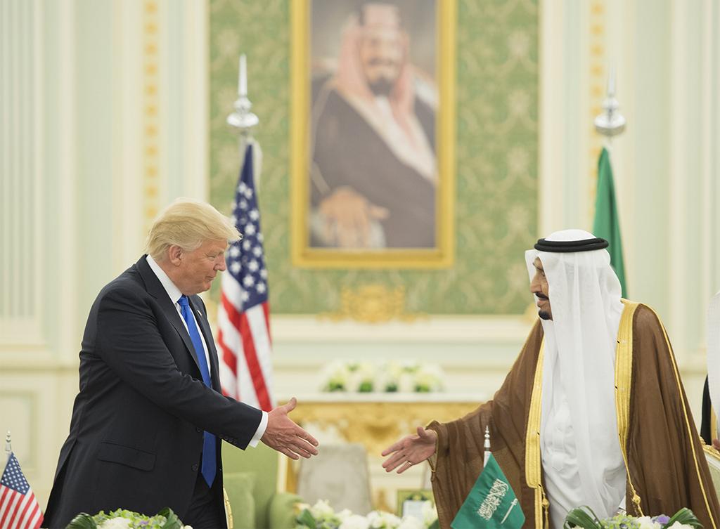 U.S. President Donald Trump meets Saudi Arabia's King Salman bin Abdulaziz Al Saud in Riyadh