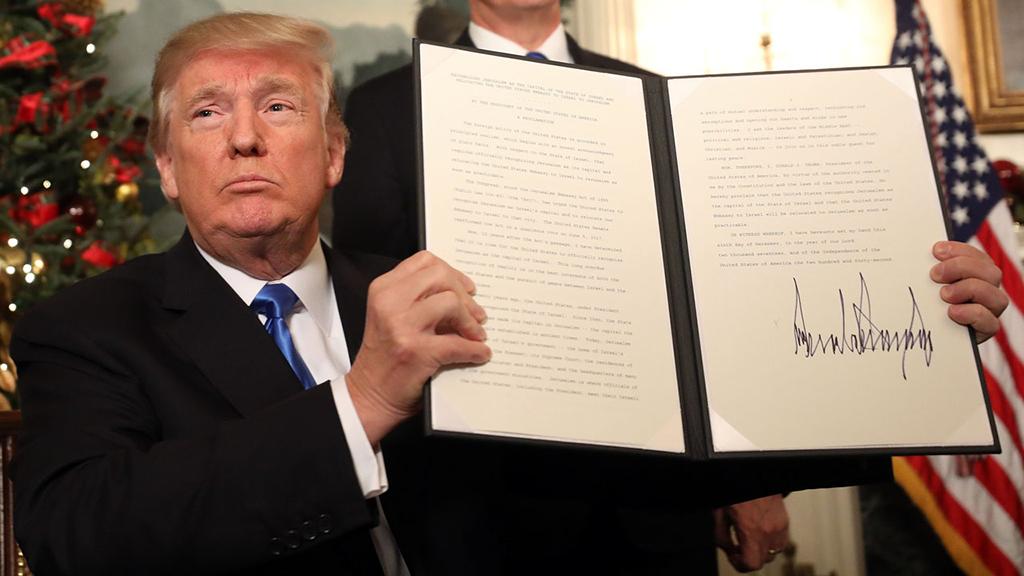 Donald Trump - Jerusalem - Sign