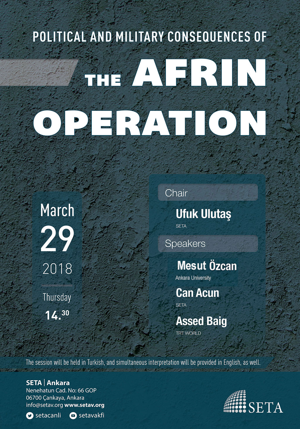 Political and Military consequences of the Afrin Operation