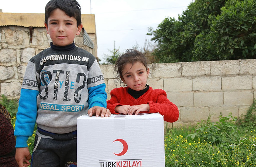 Syrian children - Afrin, Turkish Red Crescent