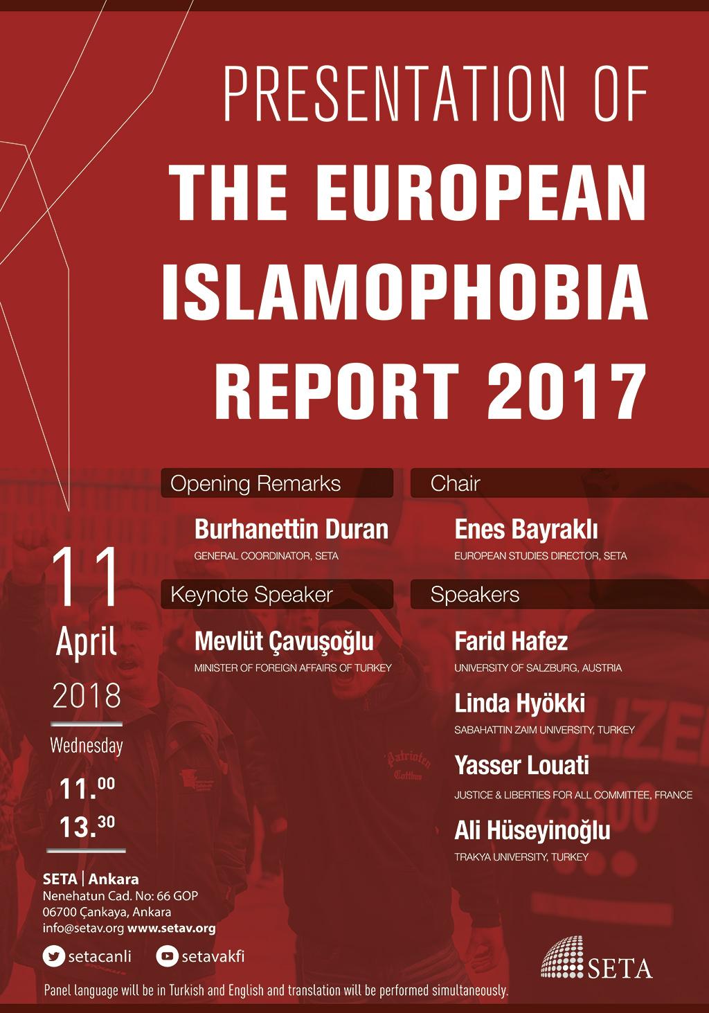 Presentation of the European Islamophobia Report 2017