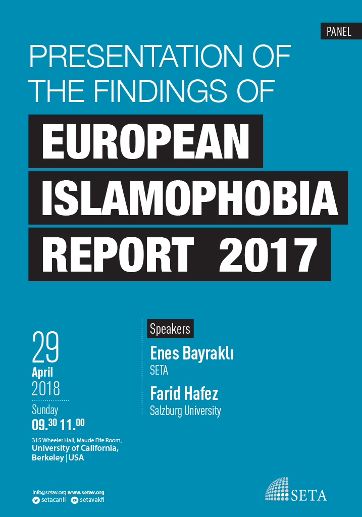 Presentation of the findings of European Islamophobia Report 2017