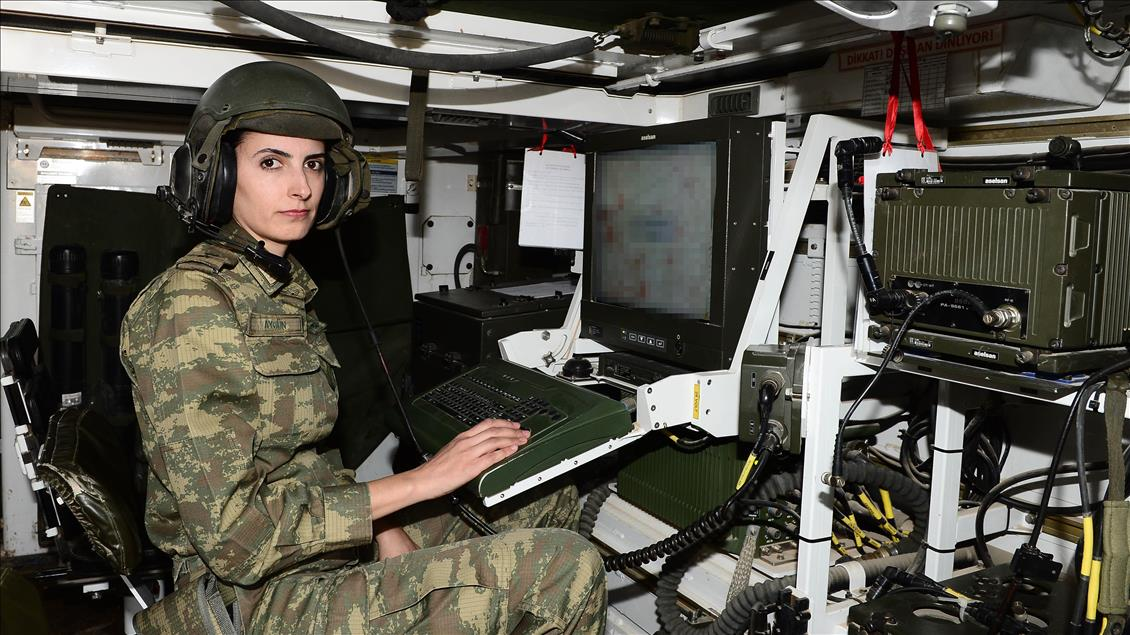 A Turkish female soldier during the operation Olive Branch