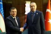 President Recep Tayyip Erdogan - Uzbekistan's acting President Shavkat Mirziyoyev