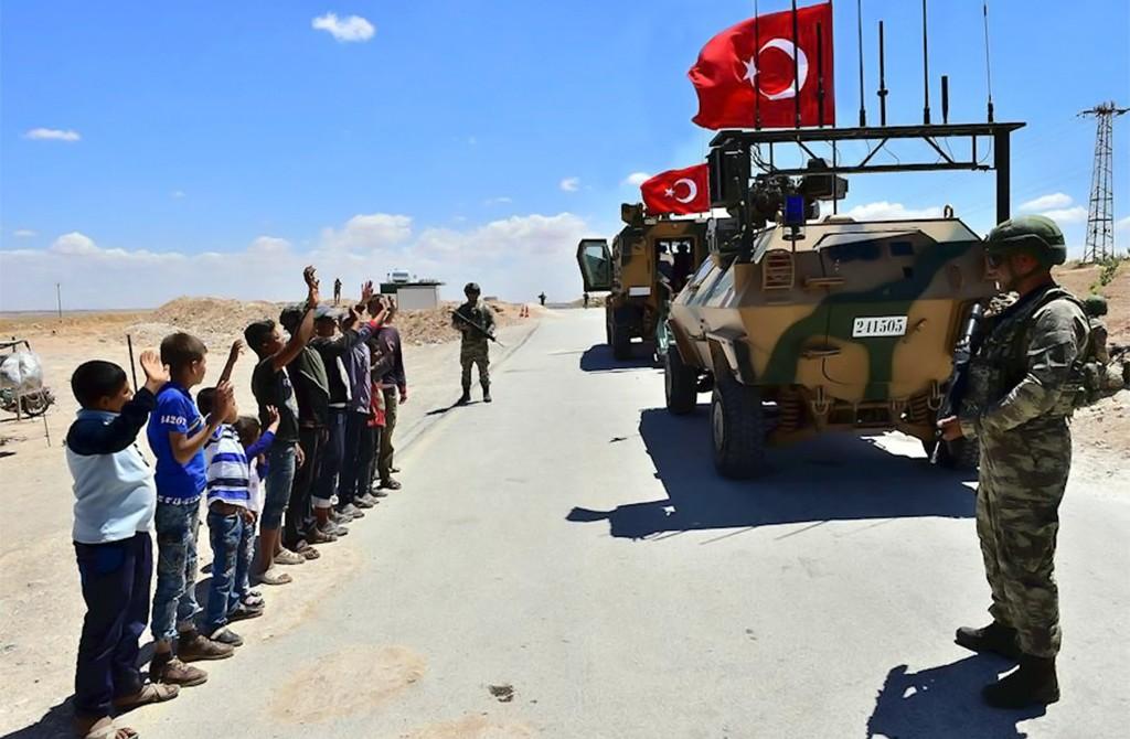 Turkish soldiers in Manbij