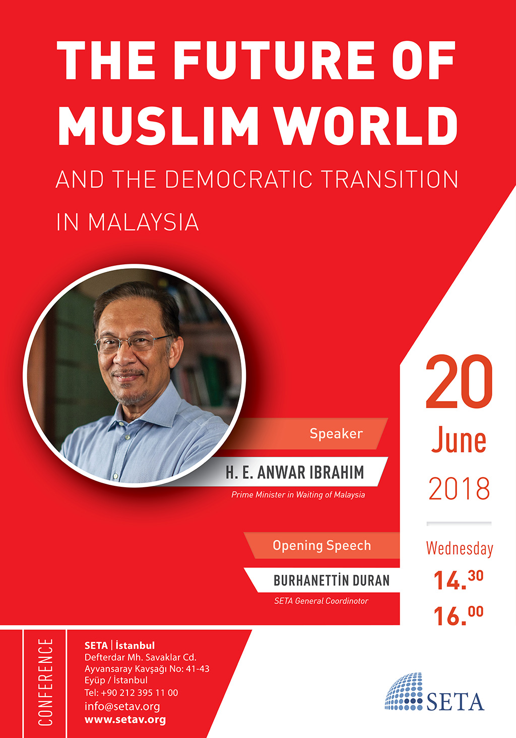 Conference: The future of Muslim World and the Democratic Transition in Malaysia | H.E. Anwar Ibrahim