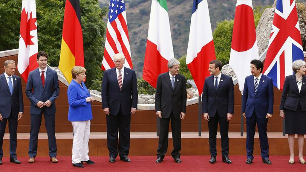 Donald Trump at G-7 summit - Canada