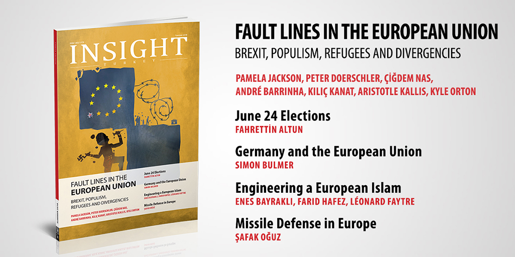 "Insight Turkey Publishes Its Latest Issue ""Fault Lines in the European Union: Brexit, Populism, Refugees and Divergencies"""