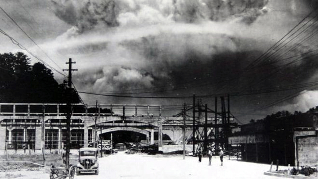 After the atomic bomb explosion