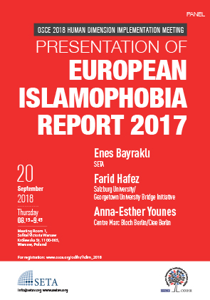 OSCE Human Dimension Implementation Meeting 2018  | Presentation of European Islamophobia Report 2017