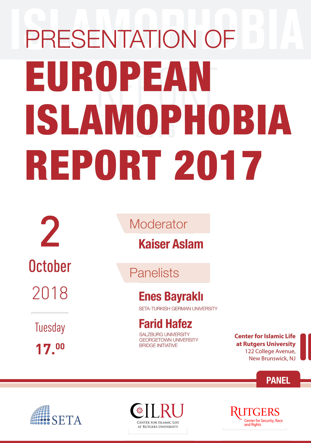 Presentation of European Islamophobia Report 2017
