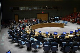 The United Nations Security Council meets at U.N. Headquarters, New York