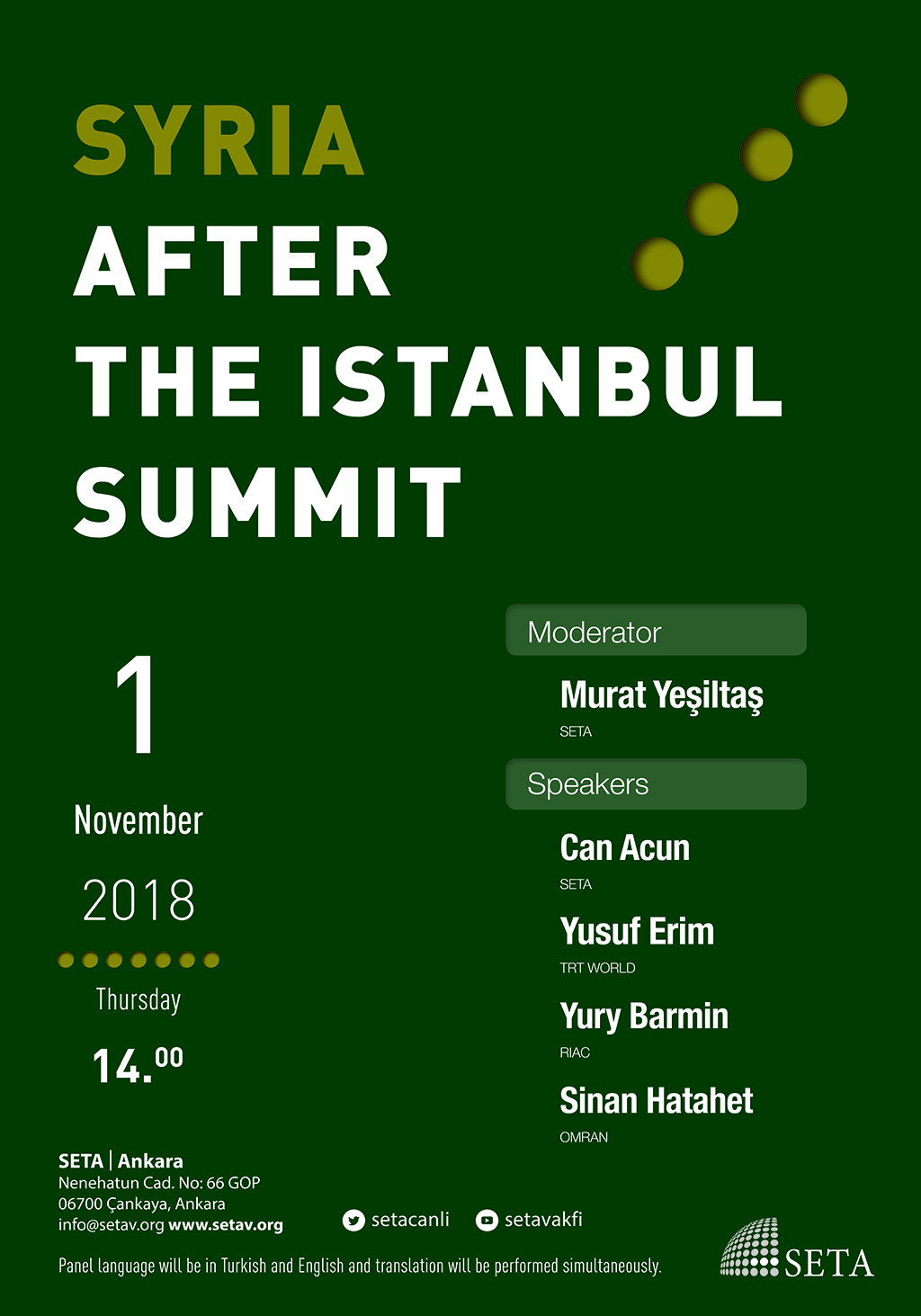 Panel: Syria after the Istanbul Summit