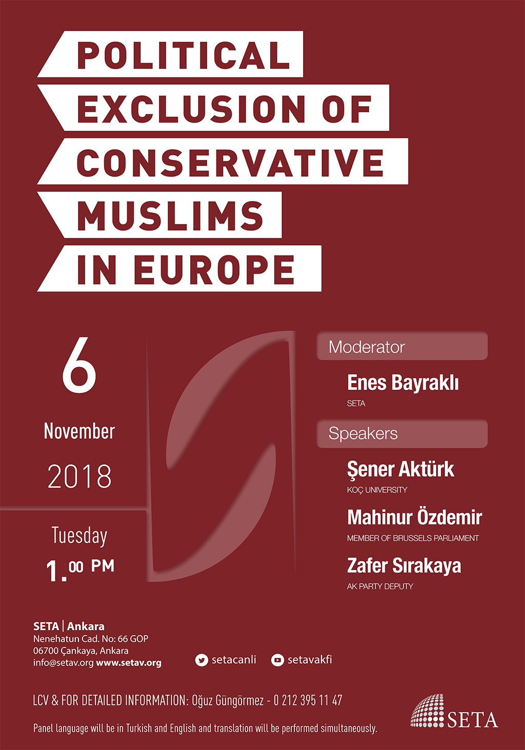 Panel: Political exclusion of conservative Muslims in Europe