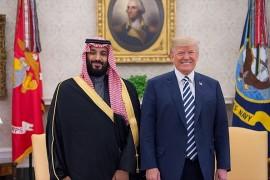 U.S. President Donald Trump meets with Saudi Crown Prince Mohammed bin Salman in Washington, D.C.   March 20, 2018