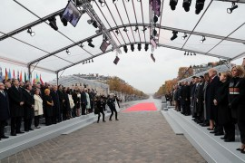 Over 70 heads of states and governments -- including Turkish President Recep Tayyip Erdogan, U.S.'s Donald Trump, Russia's Vladimir Putin and German Chancellor Angela Merkel -- attended the commemorative ceremony in Paris which was hosted by French President Emmanuel Macron.