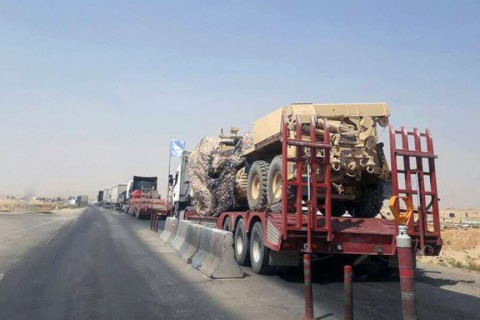 October 2018 | The U.S. forces in Syria's Manbij provided the YPG/PKK terror group with new construction equipment, allowing the terrorists to continue digging up trenches and build embankments around the city center.