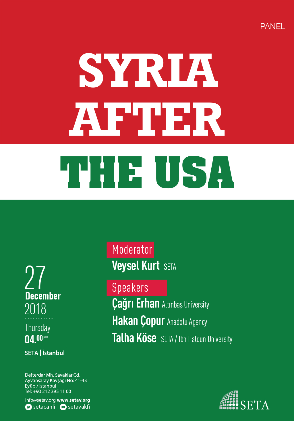Panel: Syria after the USA