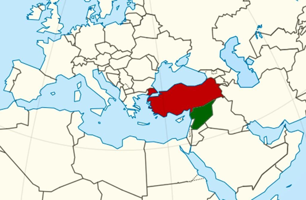 Turkey - Syria - Middle East - Europe - Eastern Mediterranean - North Africa
