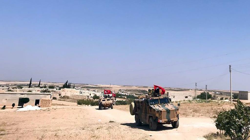 Turkish troops in Manbij, Syria.