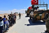 Turkish troops in Manbij, Syria.