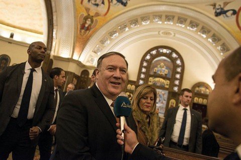 11.01.2019 | In his speech at the American University of Cairo, Pompeo said the Middle East Strategic Alliance, or MESA, would confront the most serious threats in the region and boost energy and economic cooperation. (AA)
