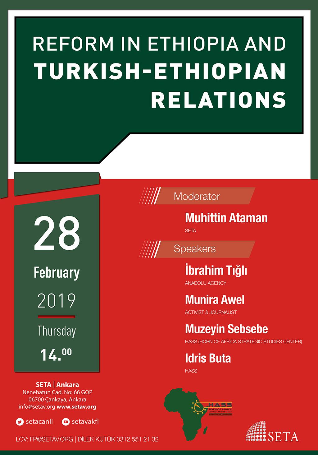 Panel: Reform in Ethiopia and Turkish-Ethiopian Relations