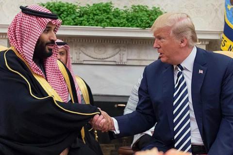 U.S. President Donald Trump with Saudi Crown Prince Mohammed bin Salman