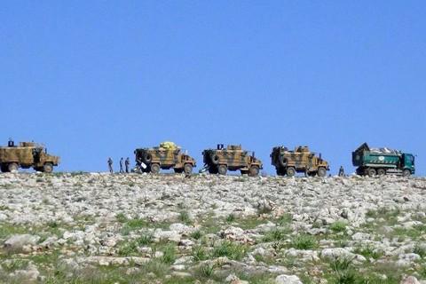 Turkish troops in Ilib, Syria