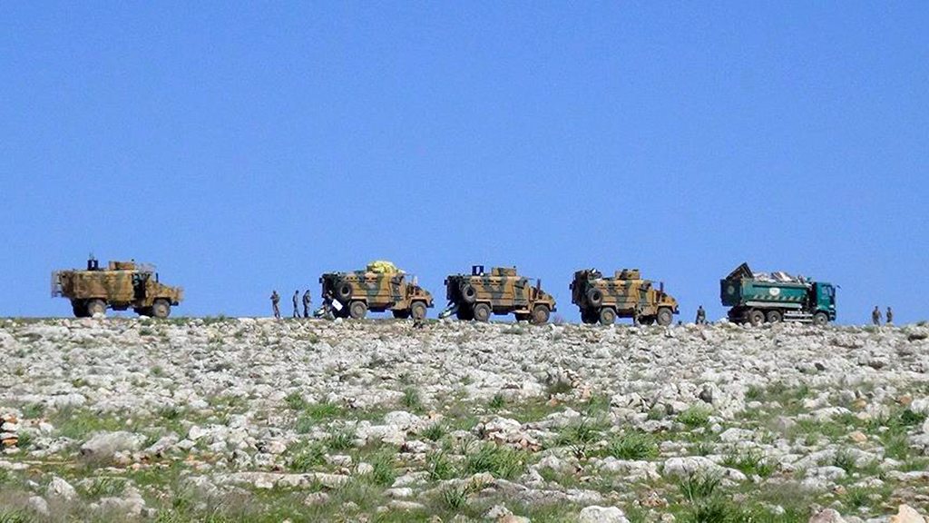 Turkish troops in Ilib, Syria