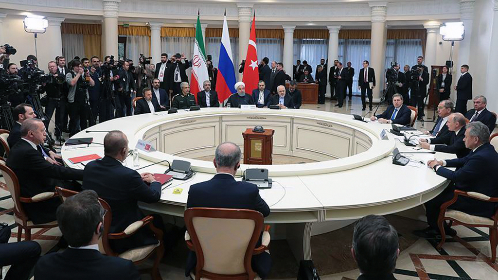 "The leaders of Turkey, Iran and Russia on Thursday expressed a firm stance against ""separatist agendas"" in Syria."