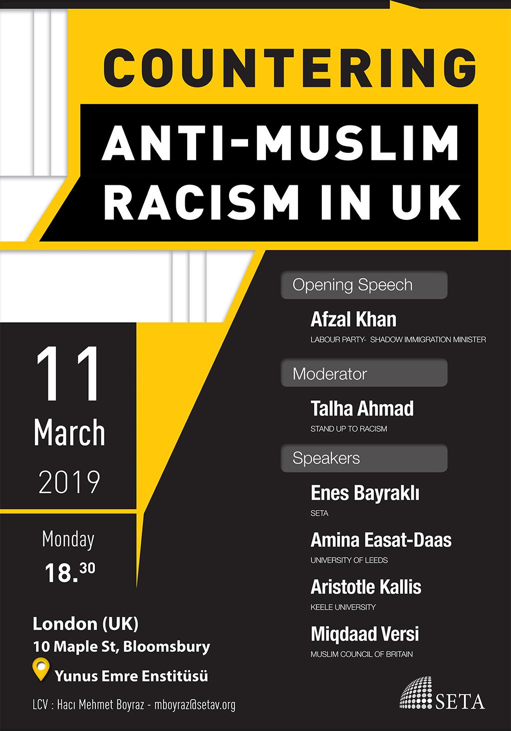 Panel: Countering Anti-Muslim Racism in the UK