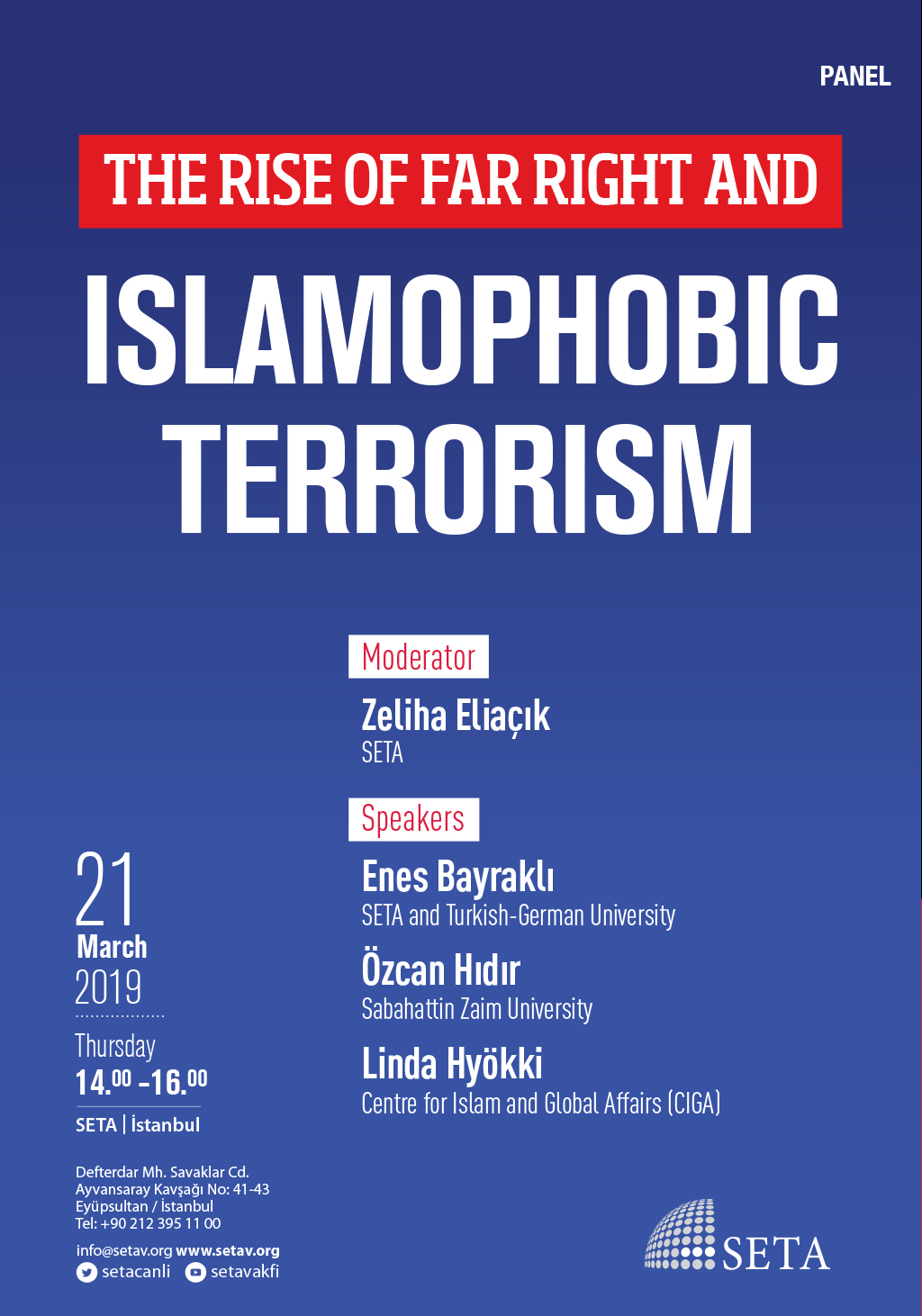 Panel: The Rise of Far Right and Islamophobic Terrorism