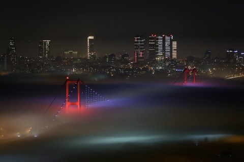 Foggy weather in Istanbul