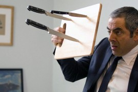 "Prominent British actor Rowan Atkinson stars as Johnny English in a scene from ""Johnny English Reborn,"" the second series of the cult British comedy movie."
