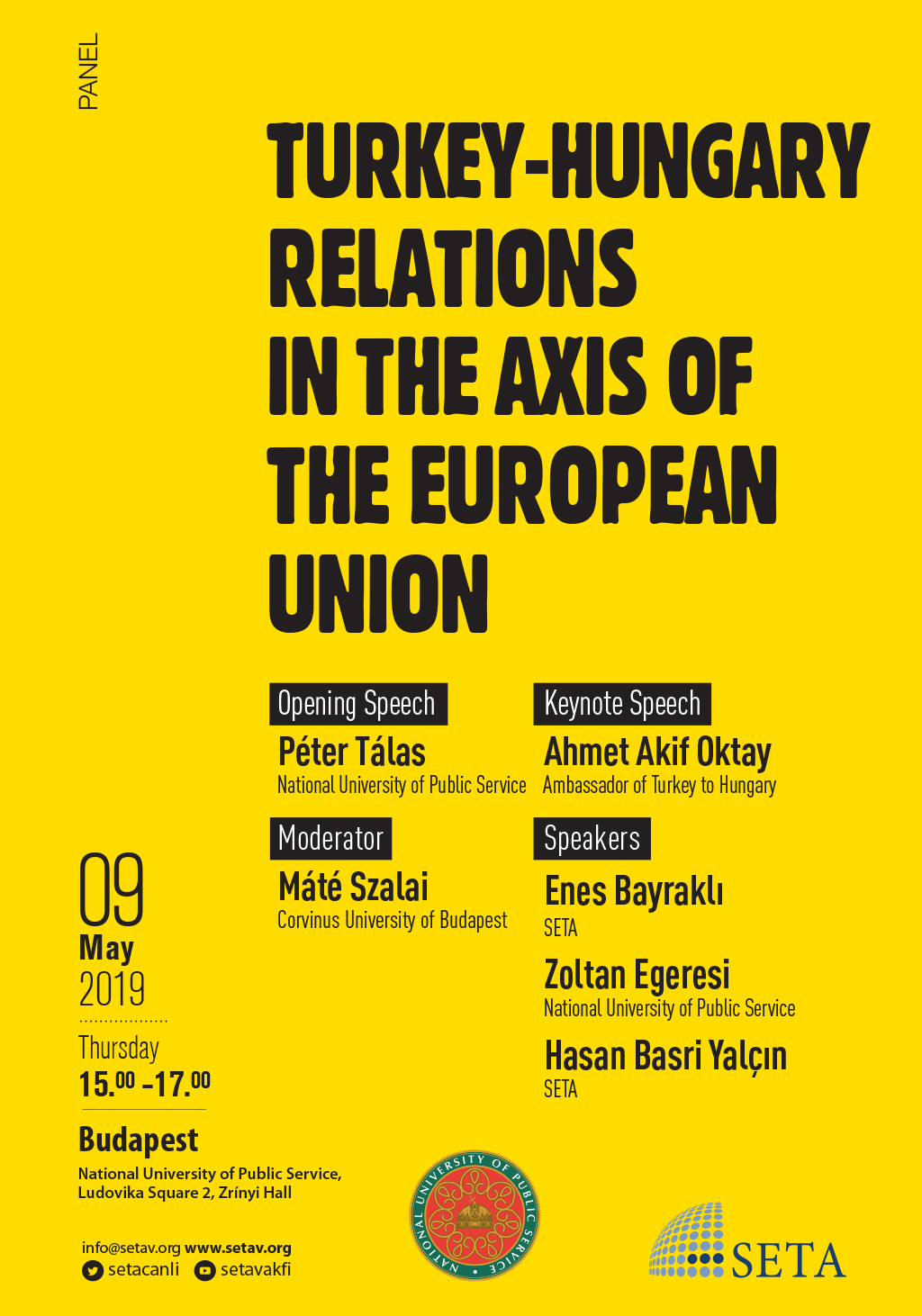 Panel: Turkey-Hungary Relations in the Axis of the European Union