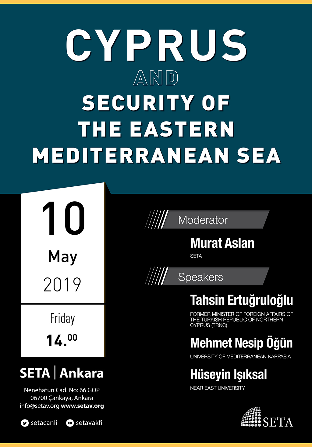 Panel: Cyprus and the Security of the Eastern Mediterranean Sea