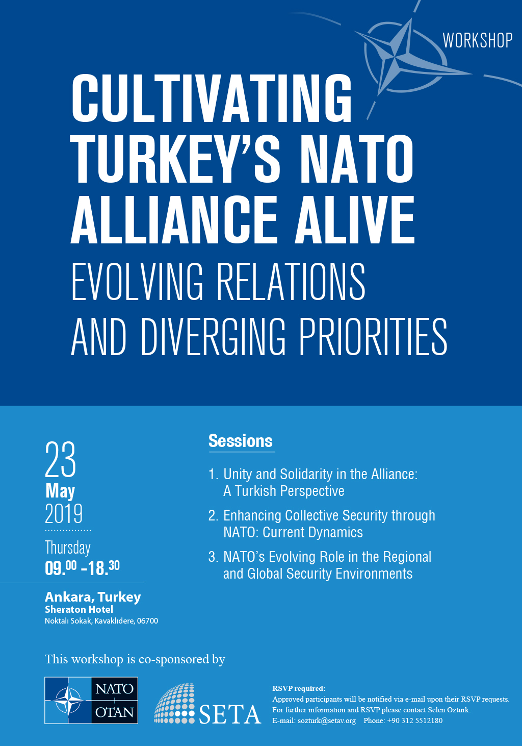 Cultivating Turkey's NATO Alliance Alive: Evolving Relations and Diverging Priorities Workshop