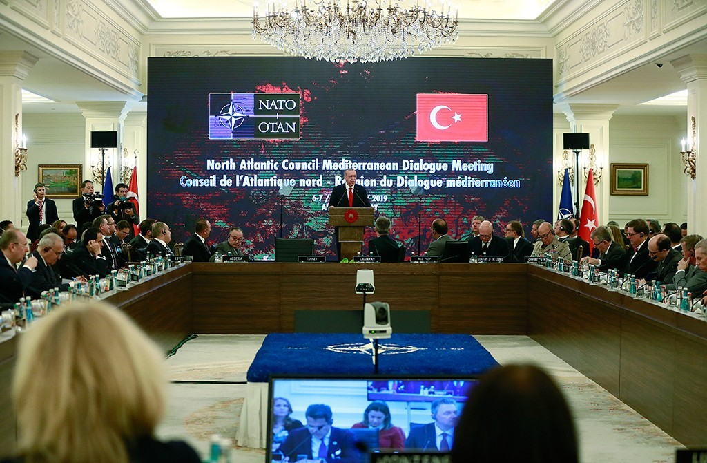 The NATO Council and Mediterranean Dialogue Partners Meeting took place in Ankara   Recep Tayyip Erdoğan