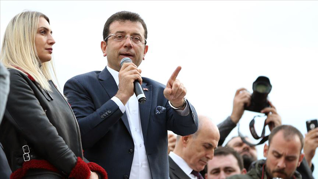 Republican People's Party (CHP) Istanbul mayoral candidate Ekrem Imamoglu