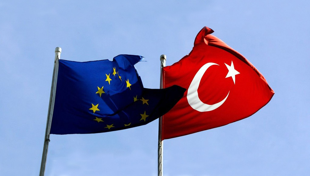 Turkish and EU flags