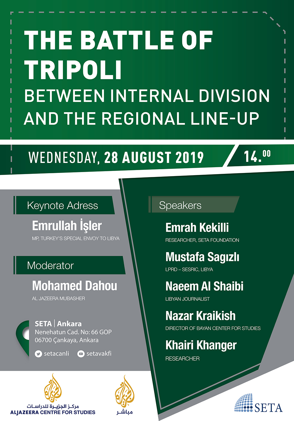 Panel: The Battle of Tripoli | Between Internal Division and the Regional Lineup