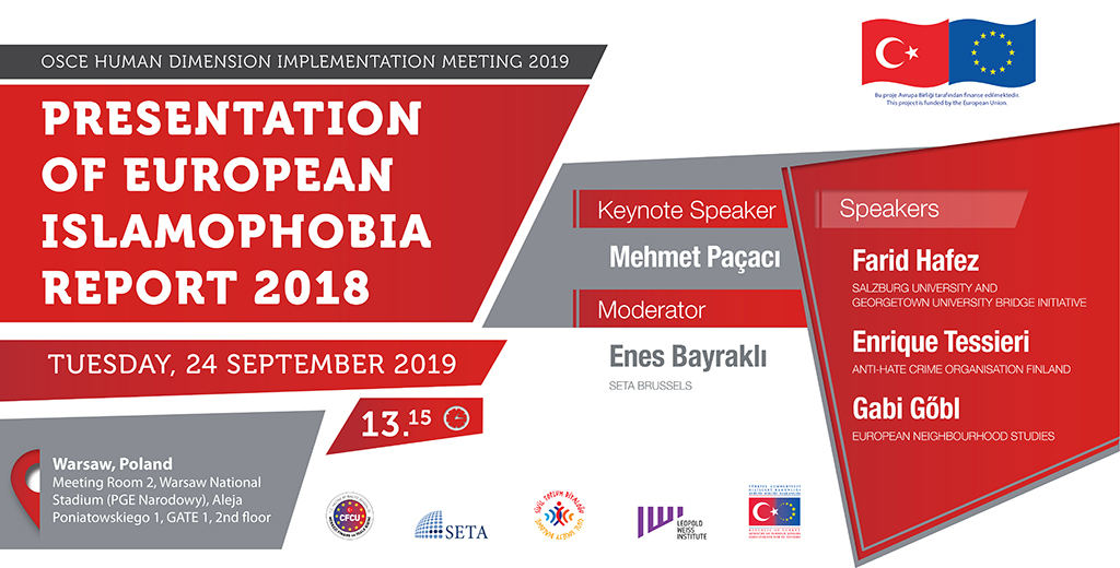Presentation of European Islamophobia Report 2018