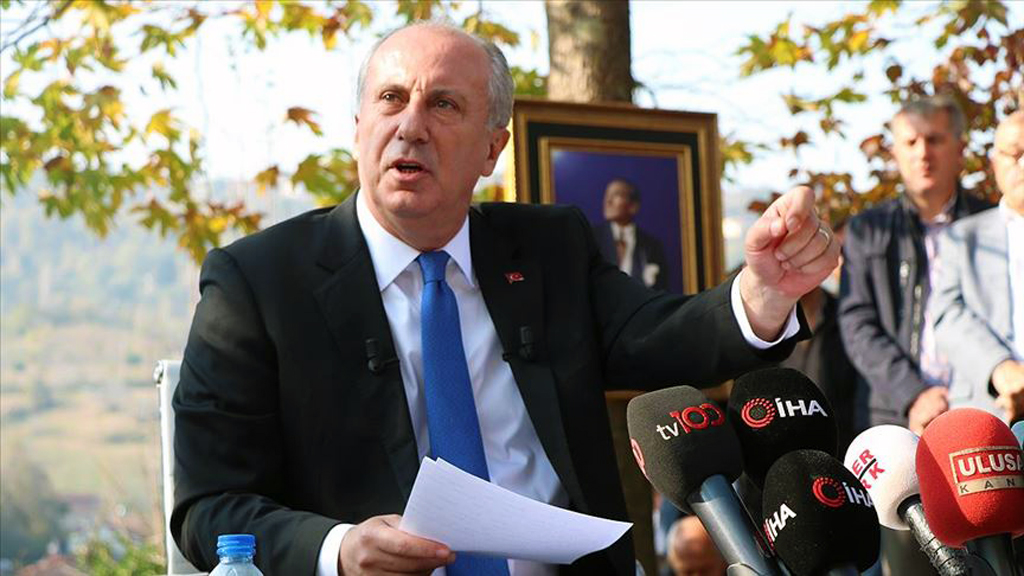 Muharrem İnce speaking to reporters in his hometown in northwestern Yalova province, Nov. 24, 2019. (AA Photo)