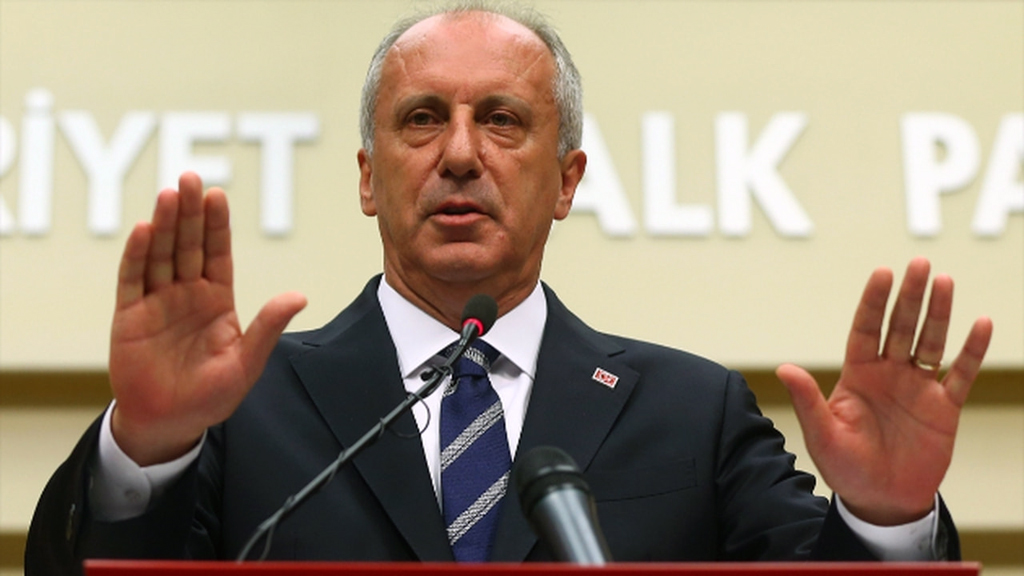 The main opposition Republican People's Party (CHP) former presidential candidate Muharrem İnce