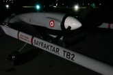 Bayraktar TB2 is a medium altitude and long-range (MALE) tactical unmanned aerial vehicle (UAV) system manufactured by Baykar Makina, for the Turkish Armed Forces.
