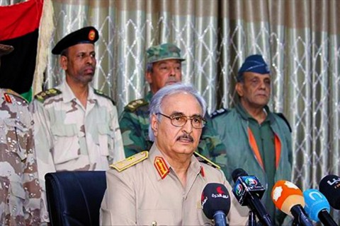 The east Libya-based military commander Khalifa Haftar